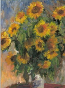 Sunflowers After Monet (Detail) - 2008