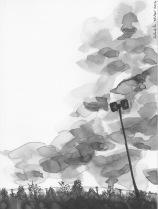 sketch, art, India, ink, brush, pen
