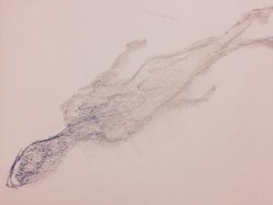 A Love So Bright, Pencil, paper, sketch, art, JP Fallavollita, 2019, shadow, figure, woman